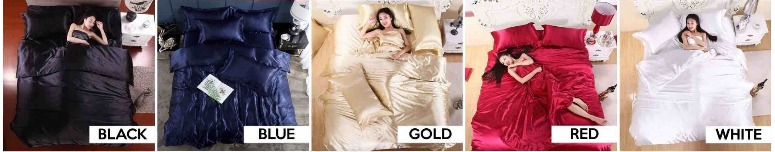 buy silk bed sheets online