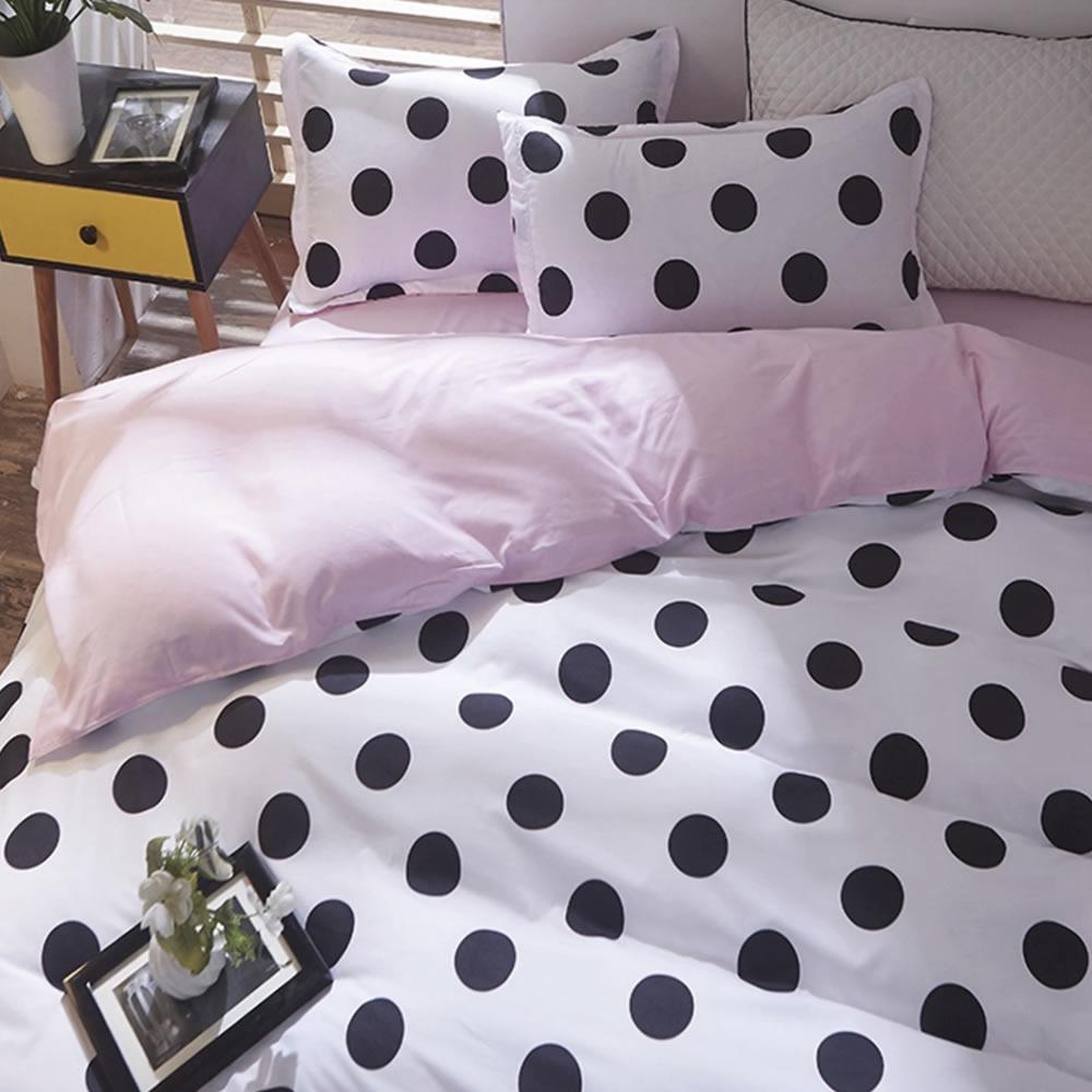 polka dot bedding set