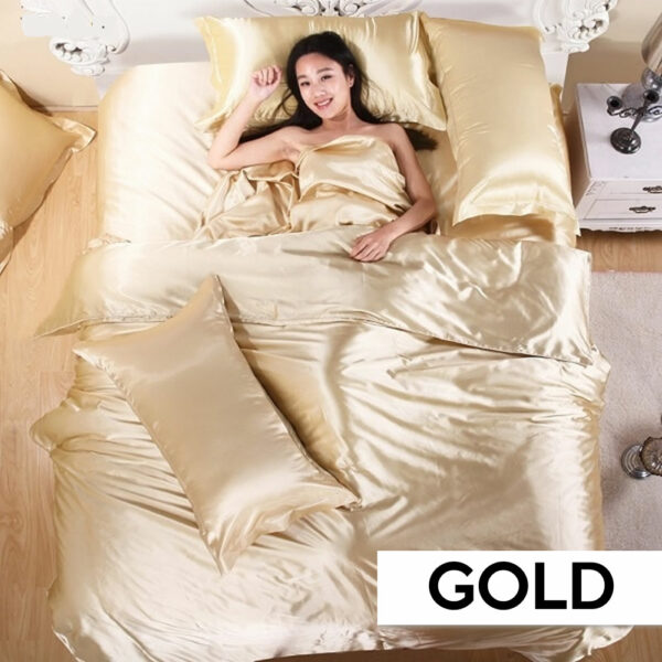 where to buy gold satin silk sheets online